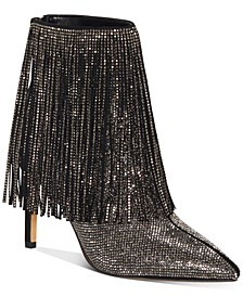 INC Women's Ismeria Fringe Bling Booties, Created For Macy's