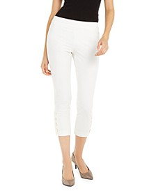 Button-Hem Cropped Pants, Created For Macy's