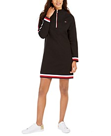 Quarter-Zip Sweatshirt Dress