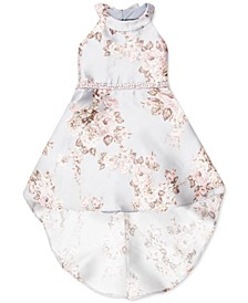 Little Girls Floral-Print High-Low Dress