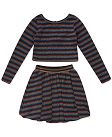 Big Girls 2-Pc. Striped Bubble Dress