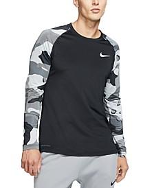 Men's Pro Camo Colorblocked Long-Sleeve Top