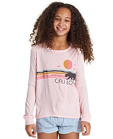 Big Girls Cali-Print T-Shirt