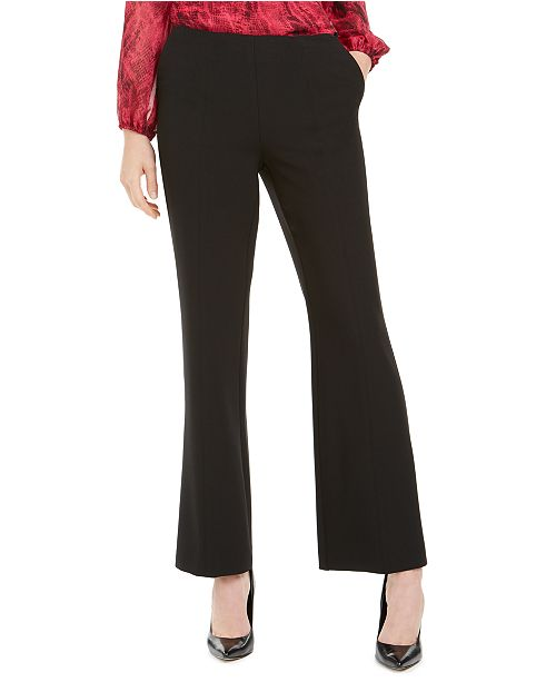 Kasper Side-Zip Flare Pants