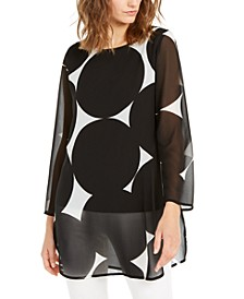 Printed Sheer Tunic, Created for Macy's