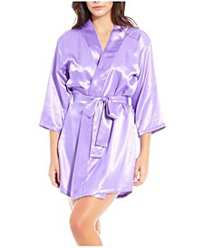 Women's Satin Ultra Soft Lounge Robe Wrap