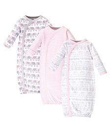 Baby Girl Organic Kimono Gown 3 Pack
