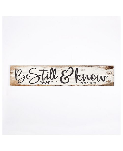 P Graham Dunn Be Still & Know Wall Art