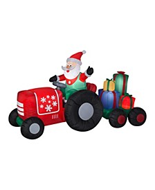 8.5 ft. Inflatable Santa on Tractor