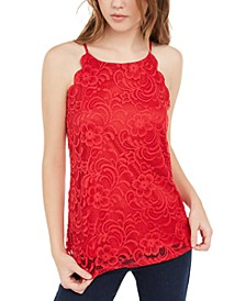Juniors' Lace Sleeveless Top