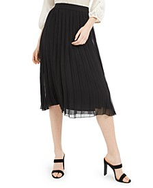 Juniors' Pleated Pull-On Skirt