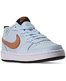 Big Boys Court Borough Low 2 Felt Casual Sneakers from Finish Line