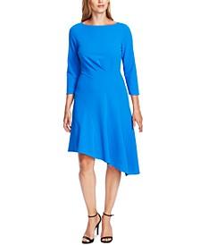 3/4-Sleeve Asymmetric A-Line Dress