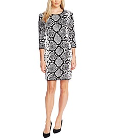 Snake-print Sheath Dress