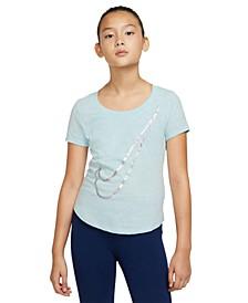 Big Girls Cotton Swoosh-Print T-Shirt