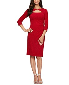 Glitter Cutout Sheath Dress