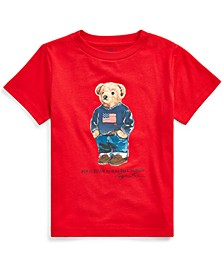 Little Boys Sweater Bear Cotton Jersey T-Shirt, Created For Macy's
