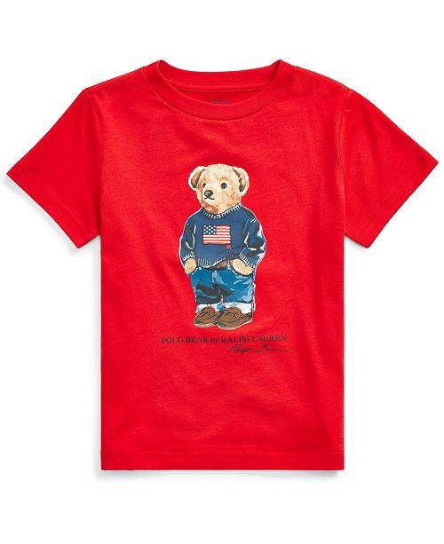 Polo Ralph Lauren Little Boys Sweater Bear Cotton Jersey T-Shirt, Created For Macy's