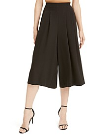 Pleated Pull-On Culottes