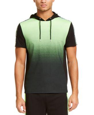 INC Men's Regular-Fit Dip-Dyed Graffiti Tape Hooded T-Shirt, Created For Macy's