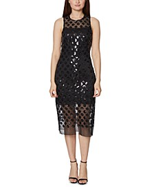 Shiny Dot Midi Dress