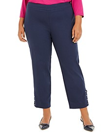 Plus Size Ankle-Laced Pull-On Pants, Created for Macys