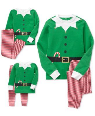 Little & Big Boys Hooded Elf Pajamas