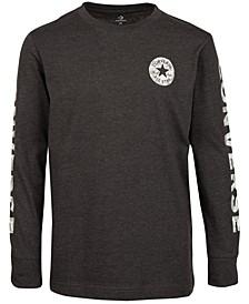 Big Boys Camo-Fill Wordmark Logo T-Shirt