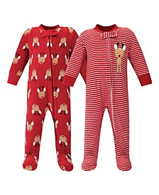 Girl and Boy Fleece Sleep and Play 2 Pack