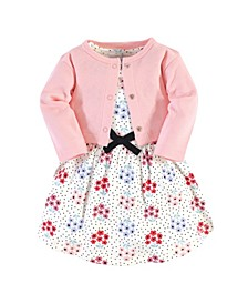 Toddler Girl Organic Dress and Cardigan
