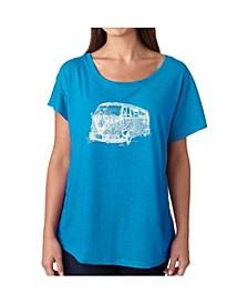 Women's Dolman Cut Word Art Shirt - The 70's