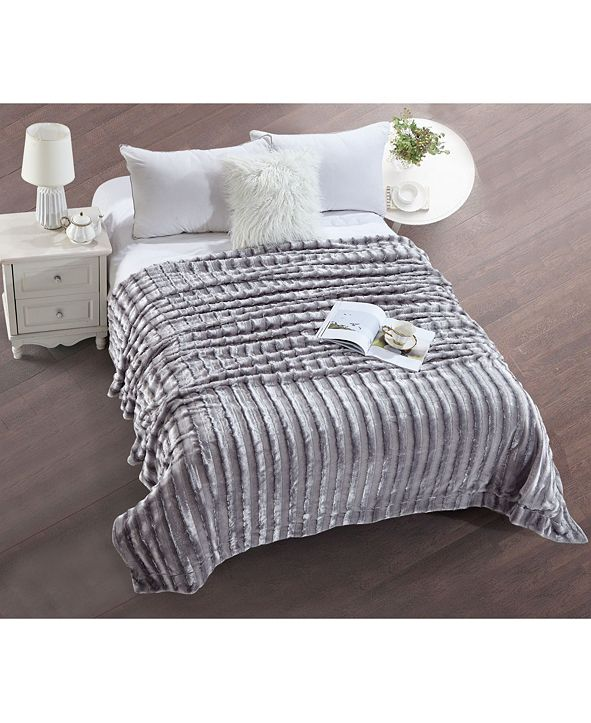 De Moocci Striped Super Soft Blanket - Twin