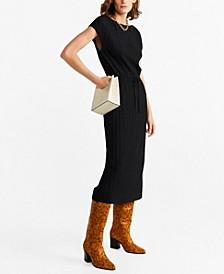 Pleated Cord Dress