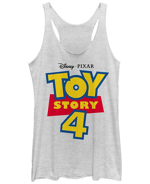 Disney Pixar Juniors' Toy Story 4 Full Color Logo Tri-Blend Tank Top