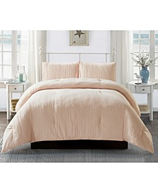 Crease 3 Piece Comforter Set, Full/Queen