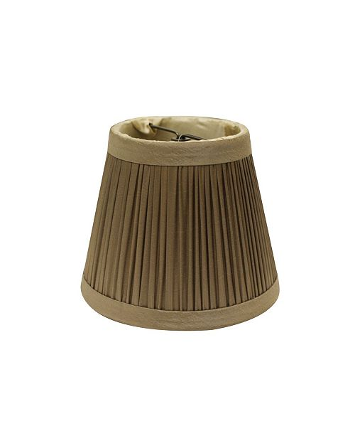 Cloth&Wire Slant Pencil Pleat Chandelier Lampshade with Clip Collection