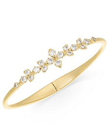 Gold-Tone Crystal Layla Floral Hinge-Spring Bracelet, Created for Macy's