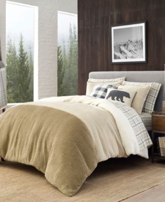 Range Finder Beige Twin Duvet Cover Set