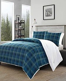 Monroe Plaid Blue Comforter Collection