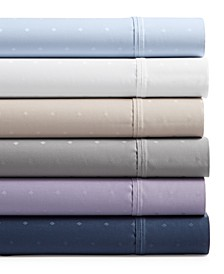 Bergen House Woven Diamond Dot Extra Deep 4-Pc. Sheet Sets, 1000-Thread Count  100% Certified Egyptian Cotton