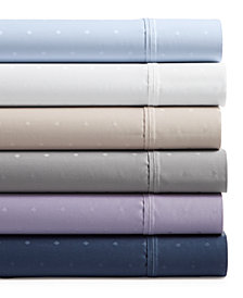 AQ Textiles Bergen House Woven Diamond Dot 4-Pc. Sheet Sets, 1000-Thread Count 100% Certified Egyptian Cotton