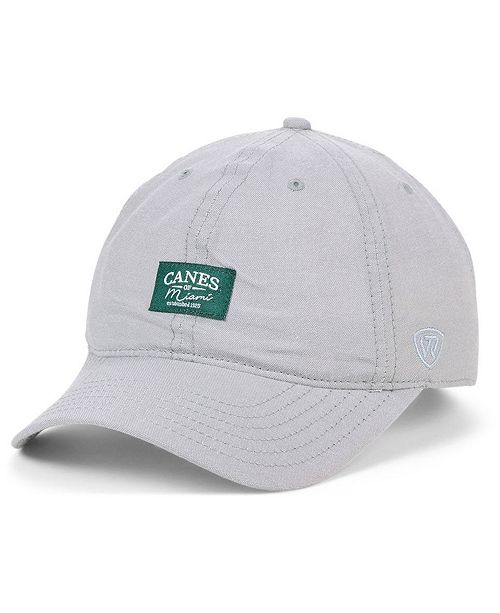 Top of the World Miami Hurricanes Ante Relaxed Strapback Cap