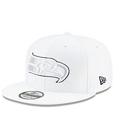 Seattle Seahawks On-Field Platinum 9FIFTY Snapback Cap