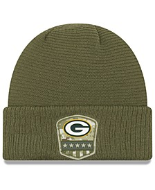 Green Bay Packers On-Field Salute To Service Cuff Knit Hat
