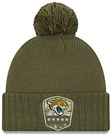 Women's Jacksonville Jaguars On-Field Salute To Service Pom Knit Hat