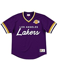 Men's Los Angeles Lakers Special Script Mesh V-Neck Jersey
