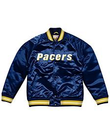 Men's Indiana Pacers Throwback Wordmark Satin Full-Snap Raglan Jacket