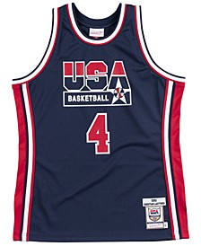 Men's Christian Laettner Authentic USA Jersey