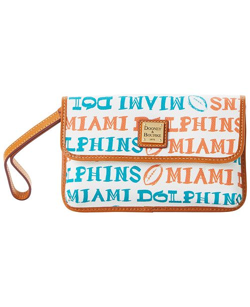 Dooney & Bourke Miami Dolphins Doodle Milly Wristlet