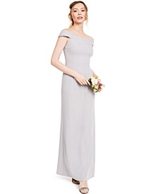 Knit Crepe Gown